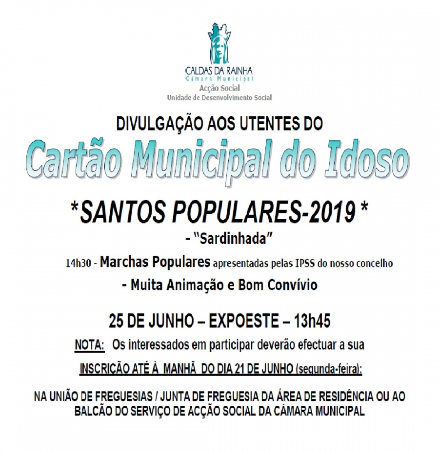 SANTOS POPULARES 2019 - SARDINHADA