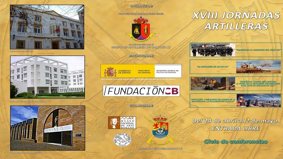 Ciclo de Conferencias XVIII Jornadas Artilleras en Extremadura