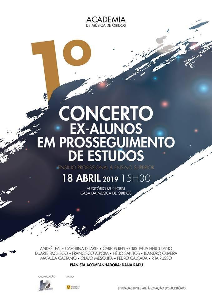 1º Concerto  Ex-Alunos em Prosseguimento de Estudos  Academia de Música de Óbidos