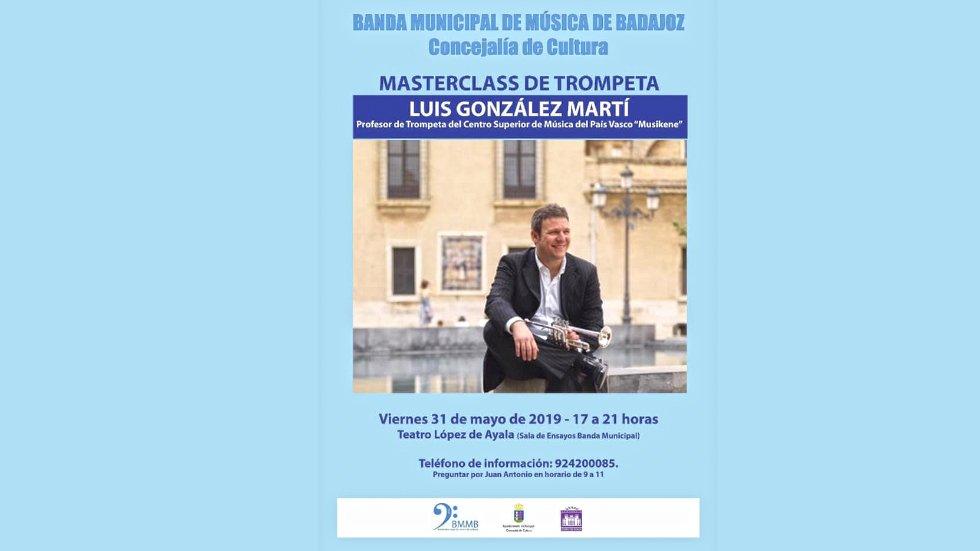 Masterclass del trompetista Luis González en la Banda Municipal de Badajoz