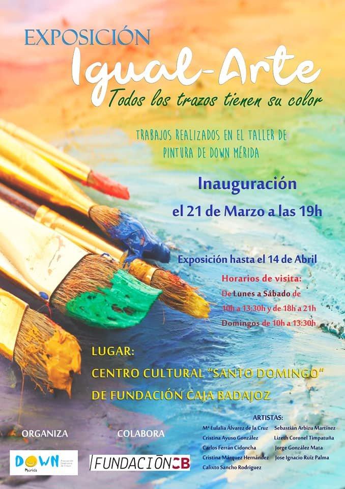 Exposición 'IGUAL-ARTE. Todos los trazos tienen su color' de Down Mérida