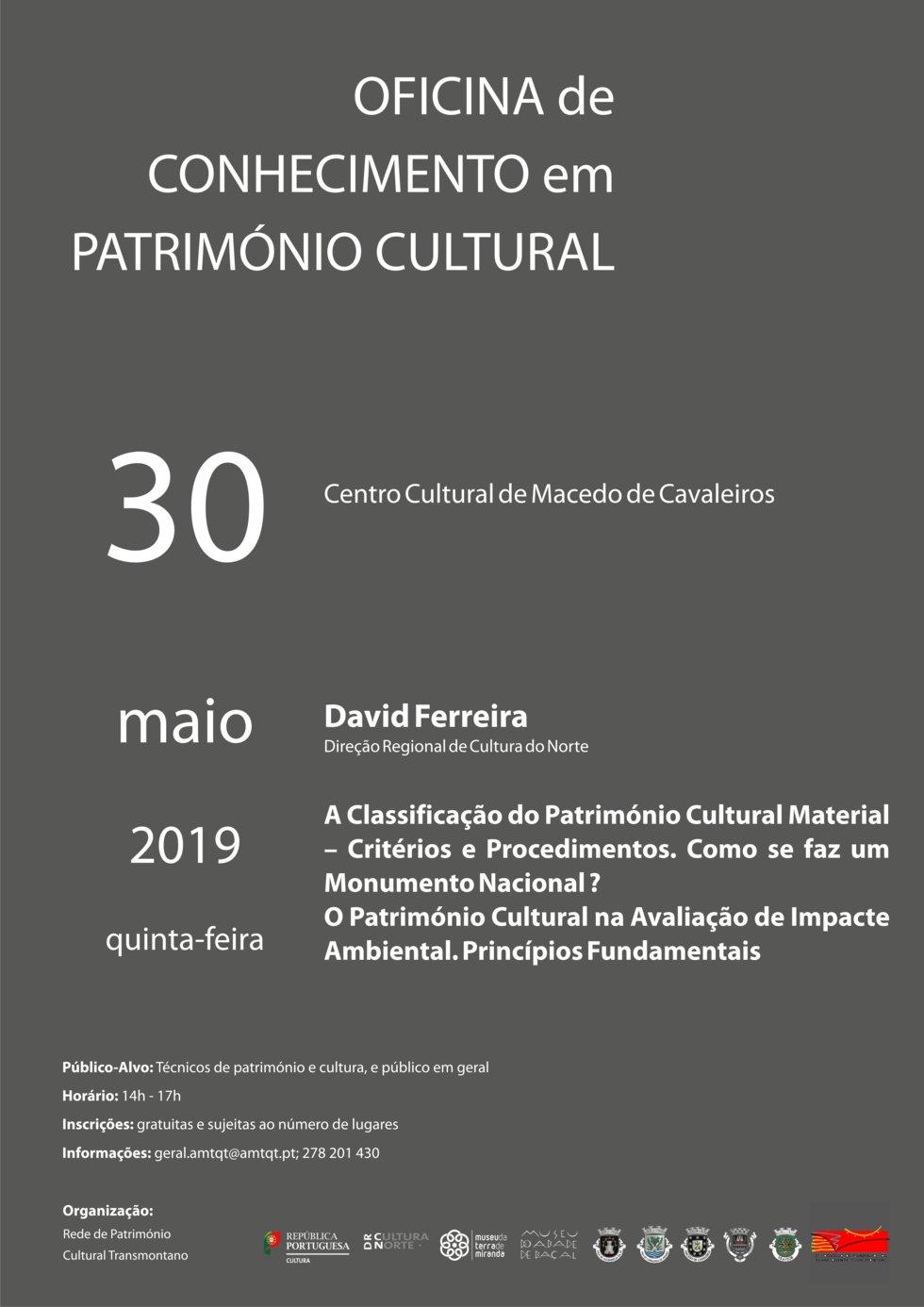 Oficina de Conhecimento em Património Cultural ...