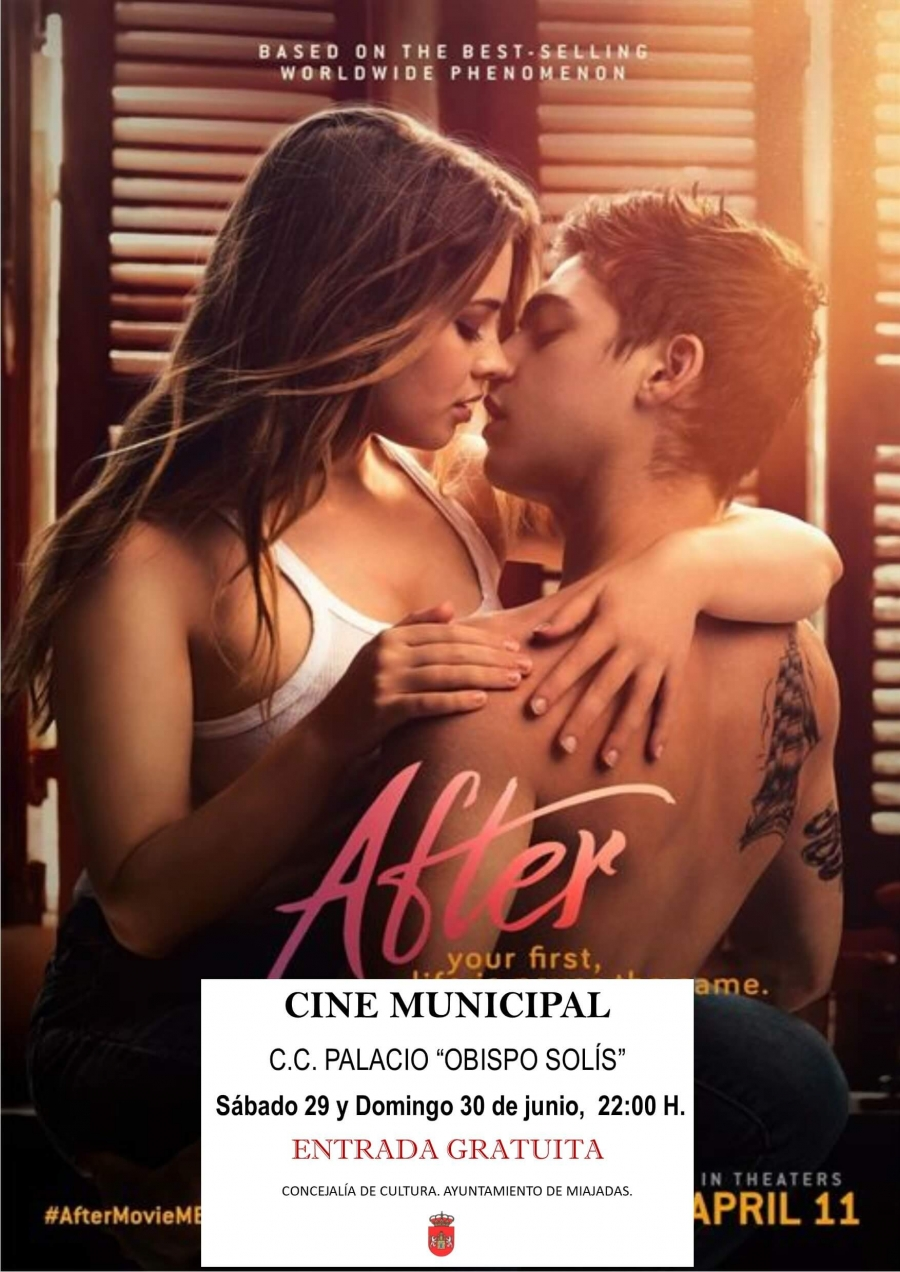 """El cine municipal proyecta: """"After"""". En el Palacio """"Obispo Solís"""""""