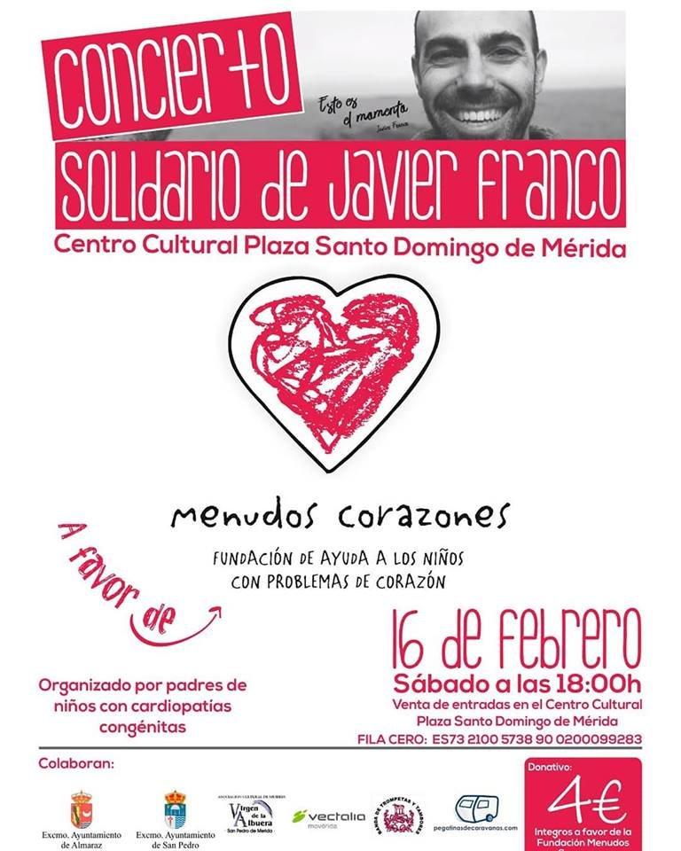 Concierto Solidario de Javier Franco a favor de Menudos Corazones