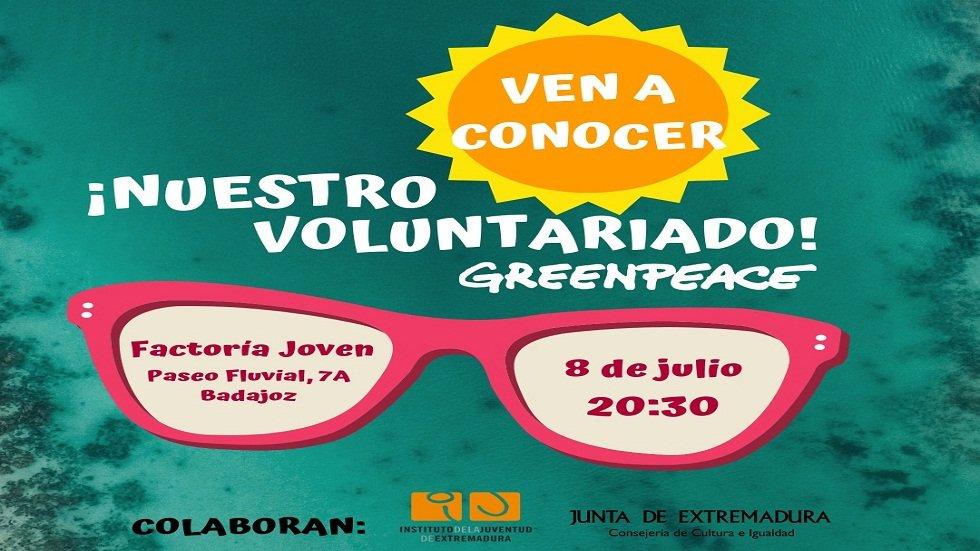 Voluntariado de Greenpeace - Factoría Joven Badajoz