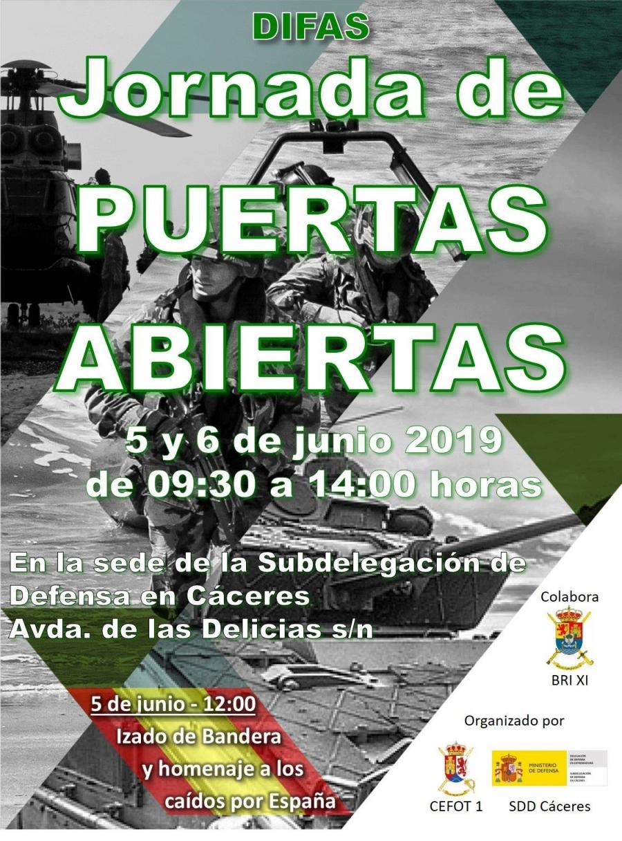 Día de las Fuerzas Armadas 2019 «II Jornadas de puertas abiertas de la Subdelegación de Defensa en Cáceres