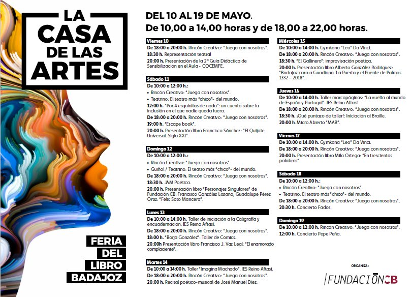 Actividades de Fundación CB en la Feria del Libro 2019