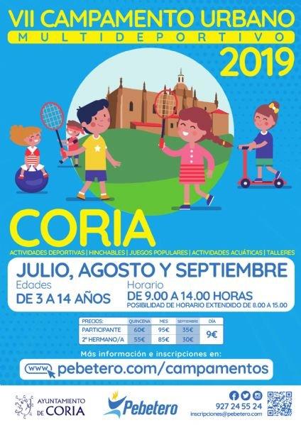 Campamento Urbano Coria 2019