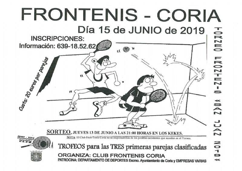 """Torneo  Fron-Tenis """"San Juan"""" 2019"""
