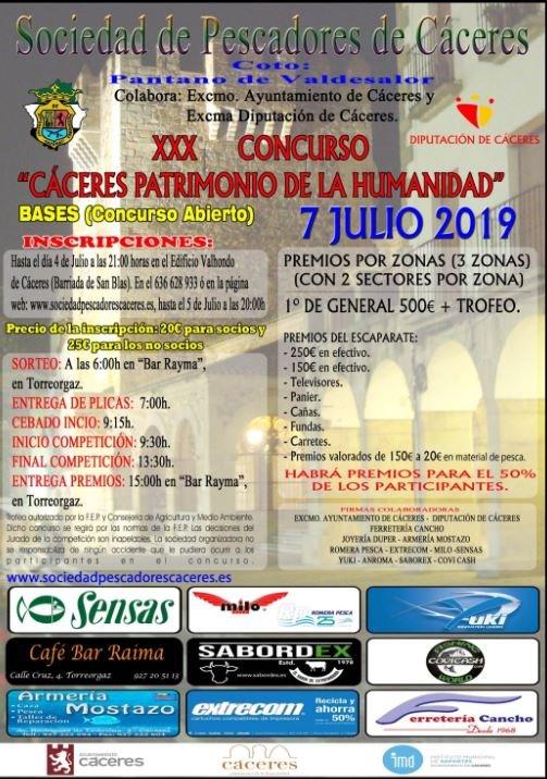 """XXX Concurso de Pesca """"Cáceres Patrimonio de la Humanidad"""""""
