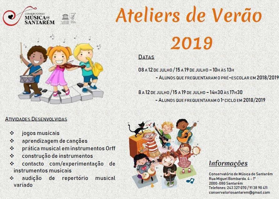 Ateliers de Música para crianças - Verão 2019