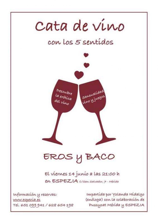 Cata de vinos Eros y Baco