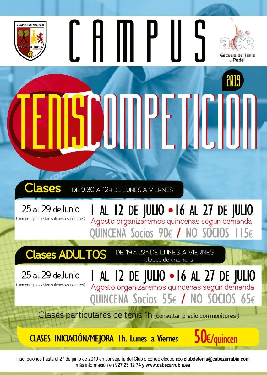 Campus Intensivo de Tennis del Club de Tenis Cabezarrubia