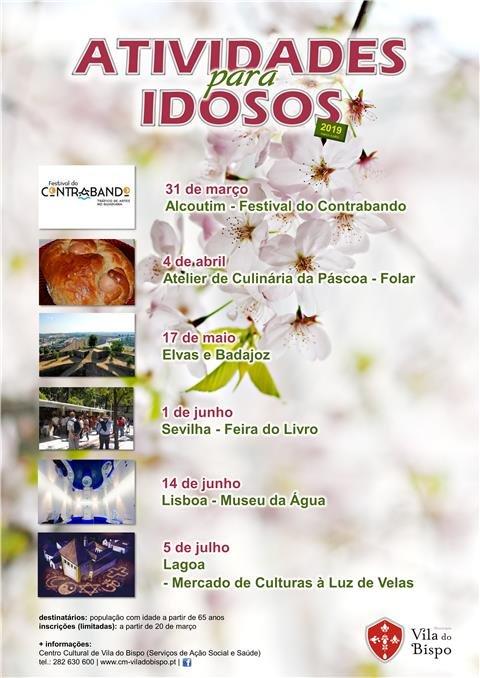 Atividades para Idosos - Inscrições a partir de 20 de março