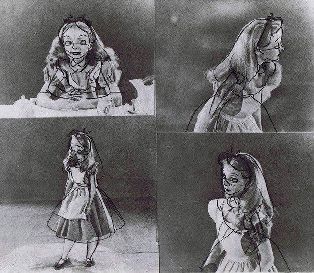 Por detrás dos desenhos de Alice