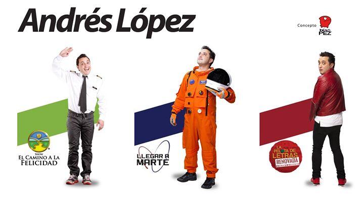 Andrés López en Costa Rica con 3 shows Camino-Marte-Pelota