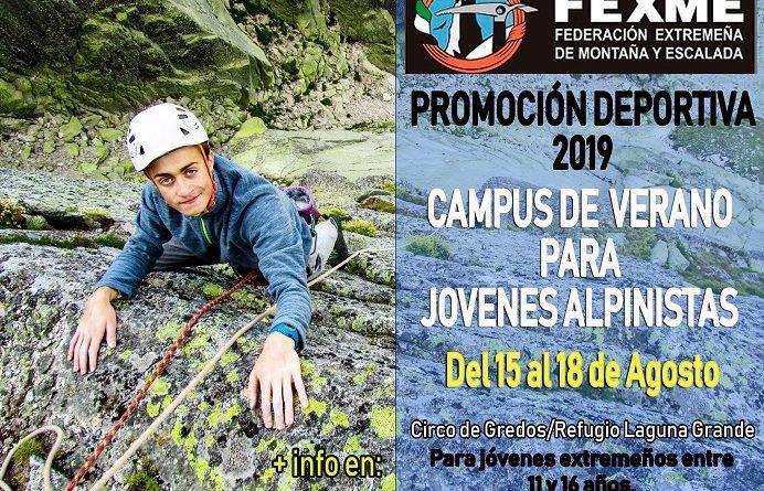 CAMPUS DE VERANO JOVENES ALPINISTAS, DEL 15 AL 18 DE AGOSTO