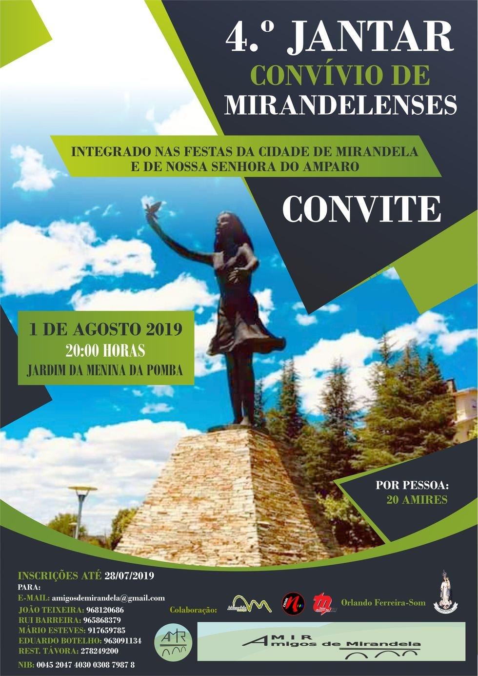 4º Jantar Convívio de Mirandelenses - AMIR
