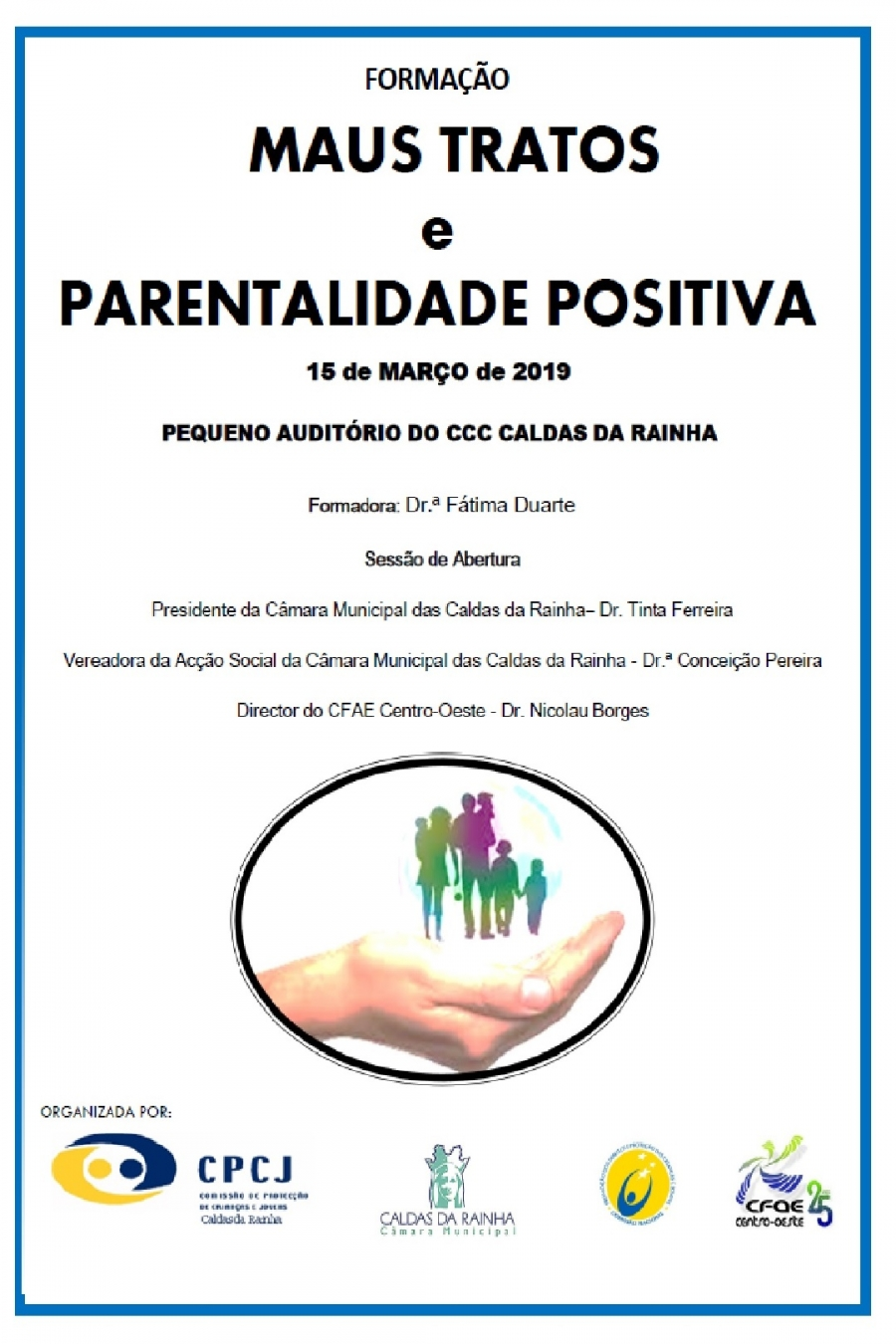 ACÇÃO DE FORMAÇÃO 'MAUS TRATOS E PARENTALIDADE POSITIVA'