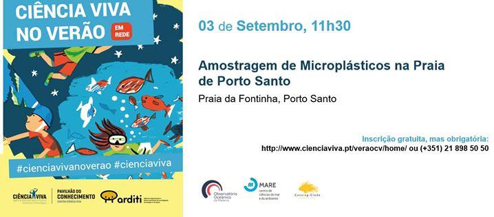 Amostragem de Microplásticos na Praia de Porto Santo