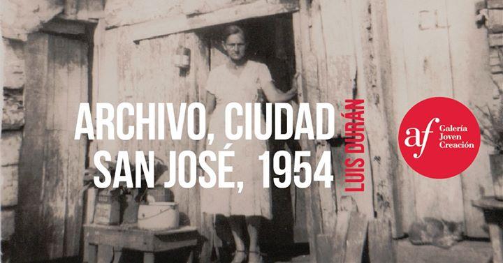 Inauguración 'Archivo, ciudad. San José, 1954'