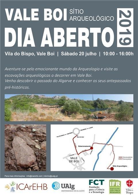 Dia Aberto no Sítio Arqueológico de Vale de Boi - Budens