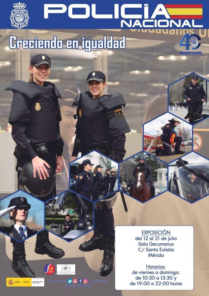 Exposición 'Creciendo en igualdad' de la Policía Nacional