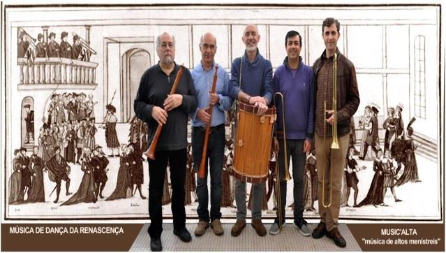 Danças e versões instrumentais de Canções europeias do século XVI pelo Ensemble Music'Alta