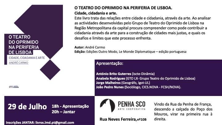 O Teatro Do Oprimido NA Periferia De Lisboa. Cidade, cidadania e