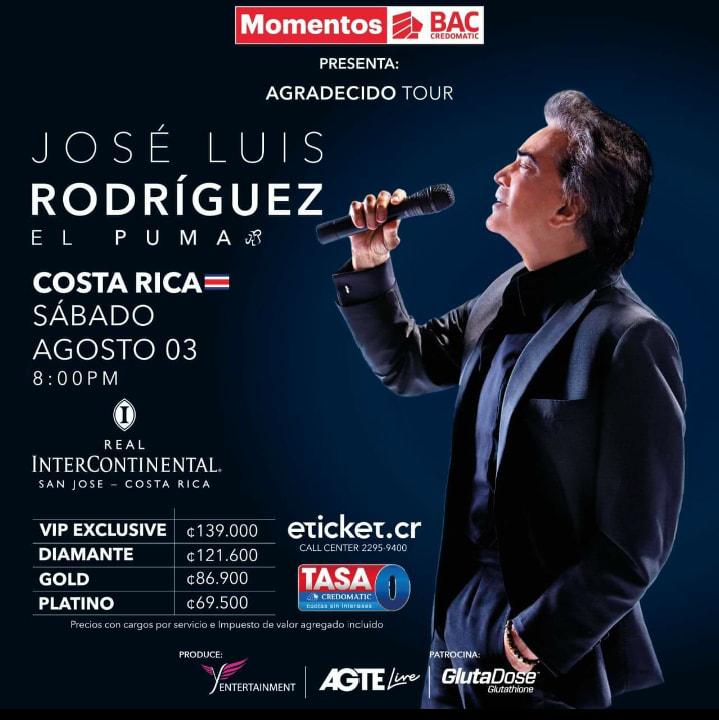 """Jose Luis Rodríguez """"El Puma"""" en Costa Rica"""