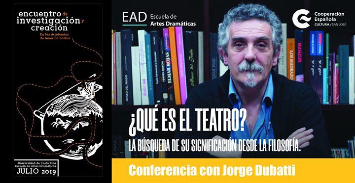 Conferencia ¿Qué es el teatro?