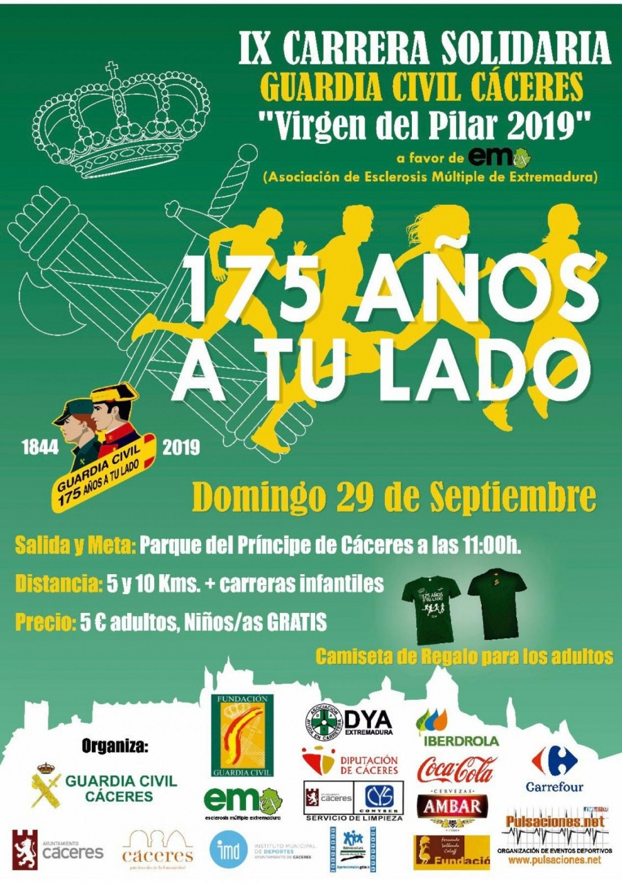 "IX Carrera Solidaria ""Guardia Civil Cáceres"""