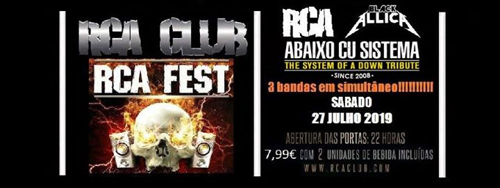 RCA / Abaixo Cu Sistema / Blackallica @RCA CLUB