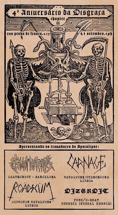 Guillotina & Dizerdit & Roädscüm & Carnage