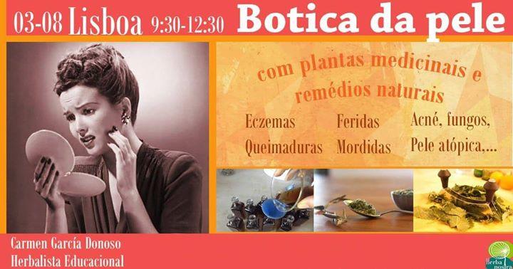 Workshop Plantas e Remédios Medicinais e Naturais 3 Agosto Lisbo