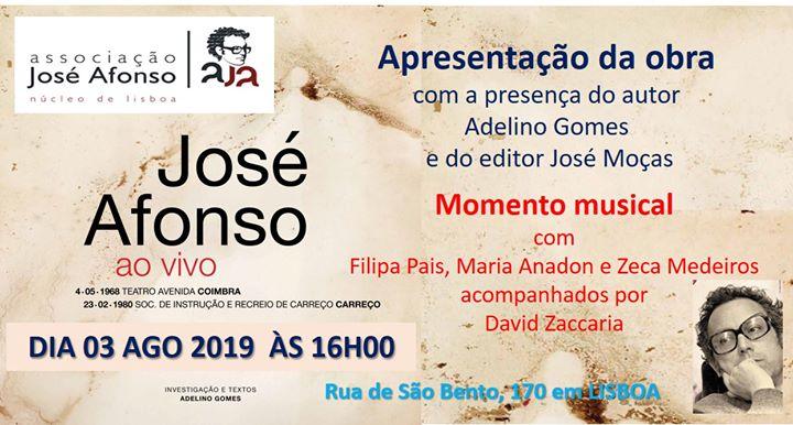 Apresentação da obra José Afonso ao vivo