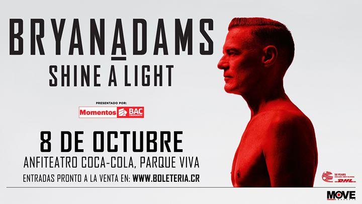 Bryan Adams en Costa Rica: Evento oficial
