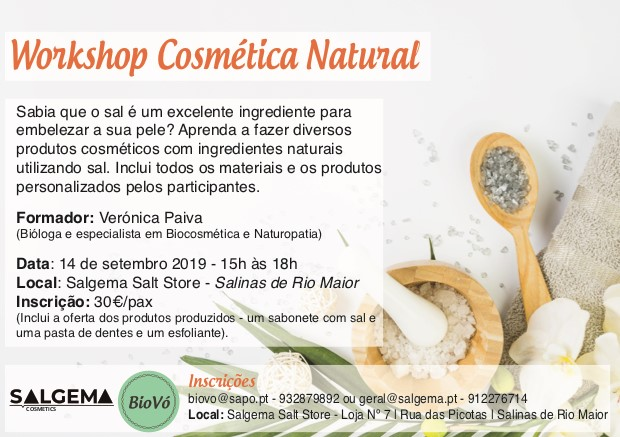 Workshop Cosmética Natural - com sal