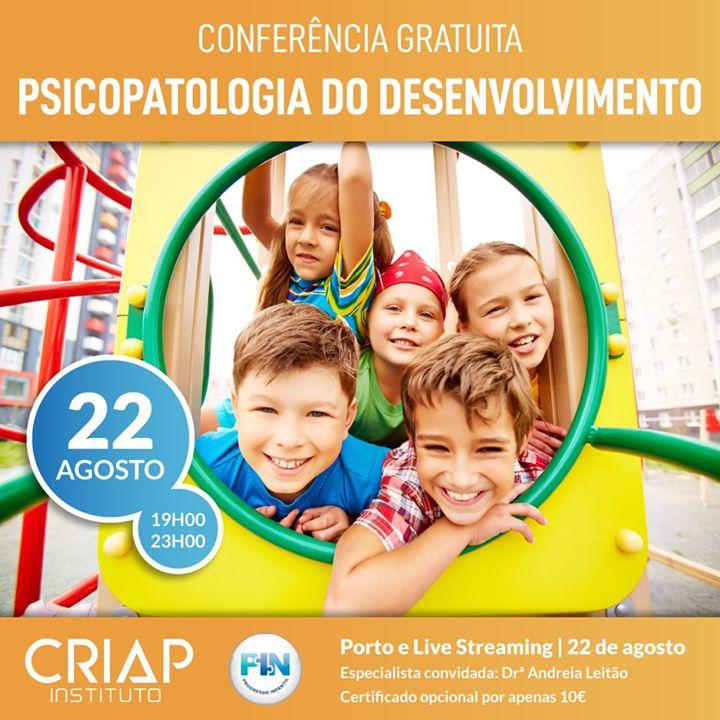 Conferência Gratuita: Psicopatologia do Desenvolvimento