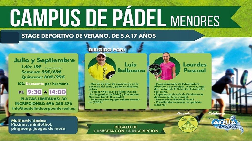 Campus de pádel para menores - Padel Indoor Puente Real
