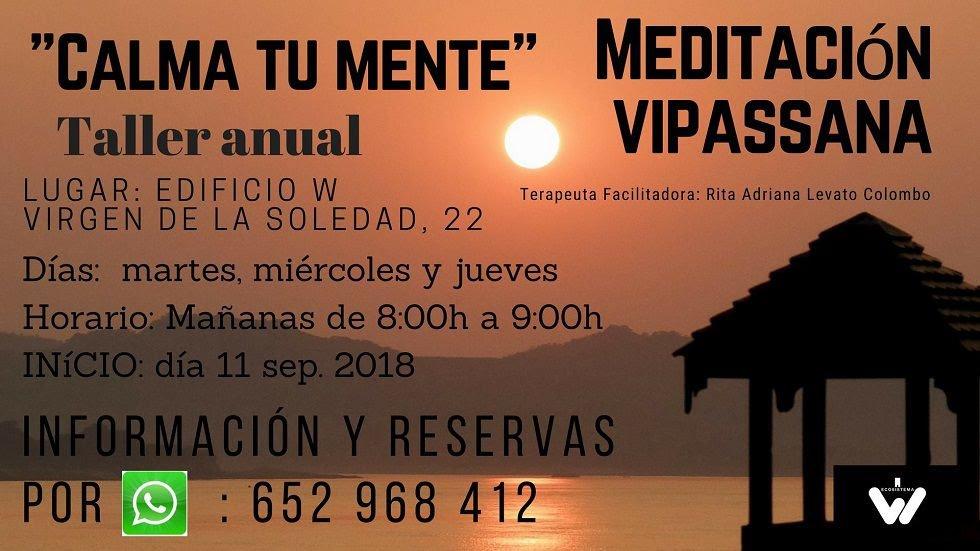 Taller anual de Meditación Vipassana - Ecosistema W