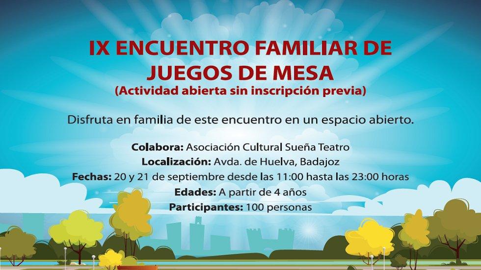 IX Encuentro Familiar Juegos de Mesa - Vive el verano en Badajoz 2019