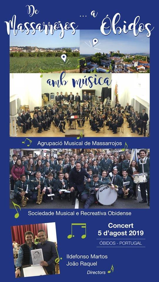 Concertos   Sociedade Musical e Recreativa Obidense    Agrupació Musical de Massarrojos