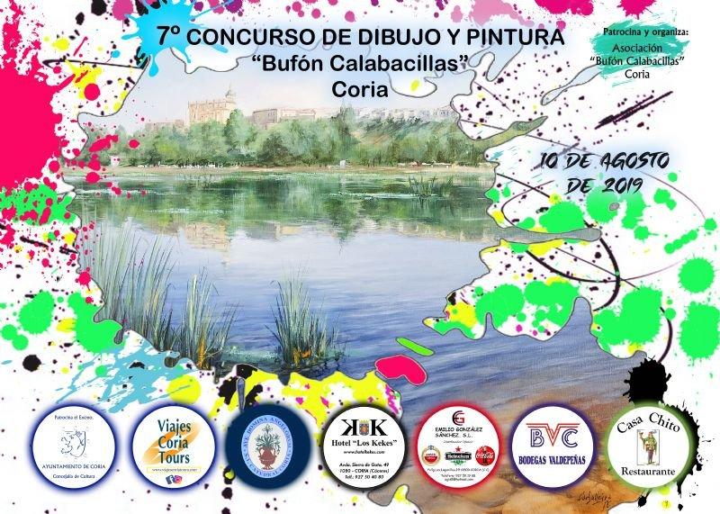 """7º Certamen Internacional de Dibujo y Pintura al aire libre """"Bufón Calabacillas"""" de Coria"""