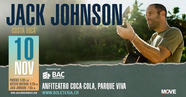Jack Johnson en Costa Rica: Evento Oficial