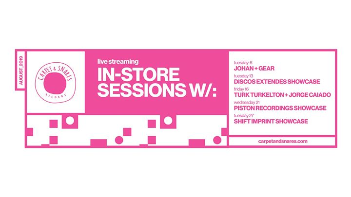 Carpet In-Store Sessions August 2019