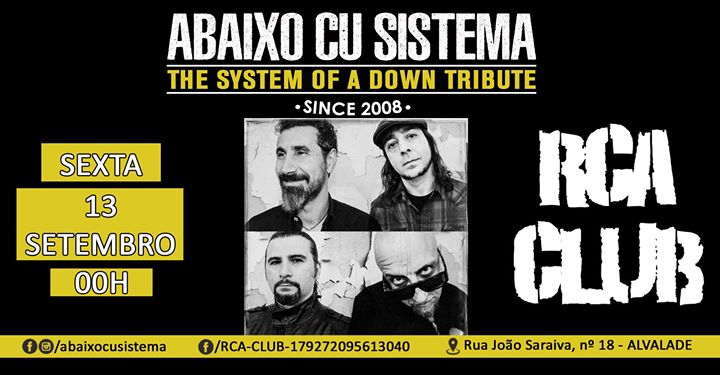 Abaixo Cu Sistema - The System Of A Down Tribute 13 SET RCA CLUB