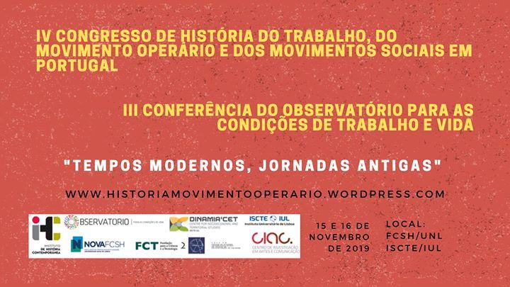 IV Congresso de História do Trabalho e III Conferência