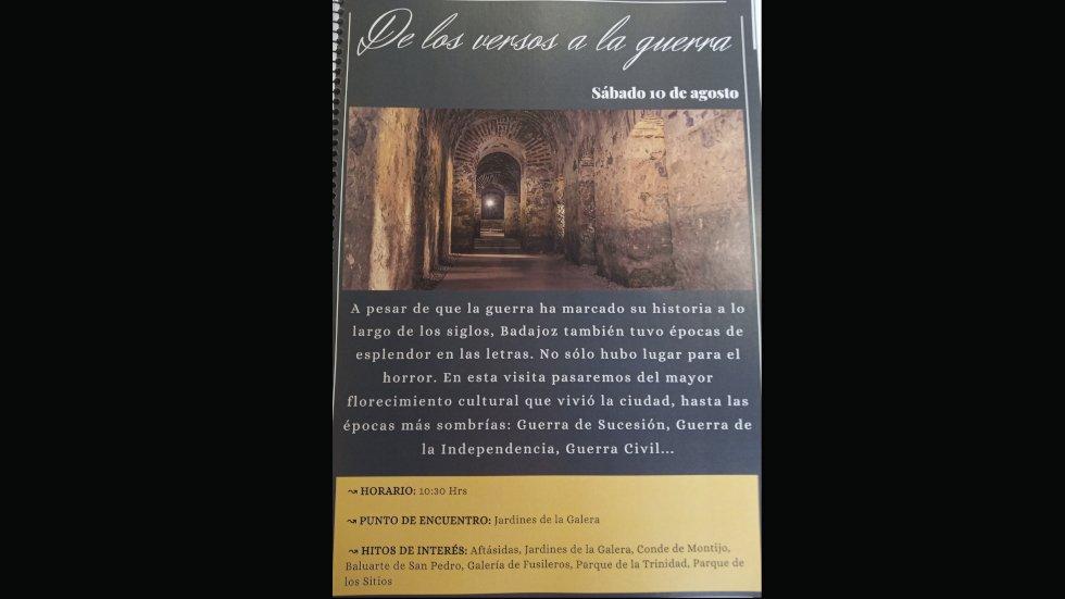 Visita turística : De los versos a la Guerra