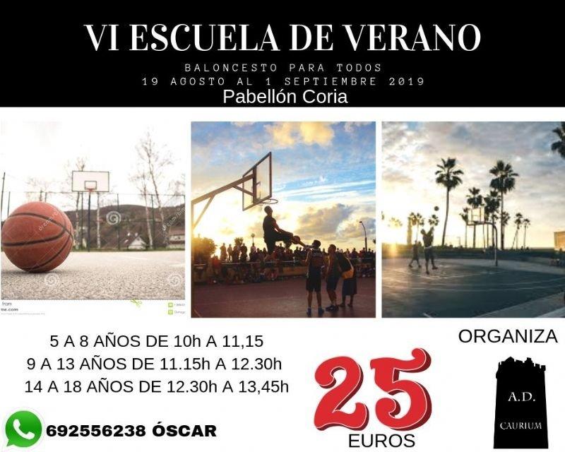 VI Escuela de Verano - Baloncesto para todos.